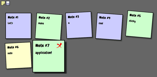 Creating a sticky note app with HTML5, CSS3 and Javascript