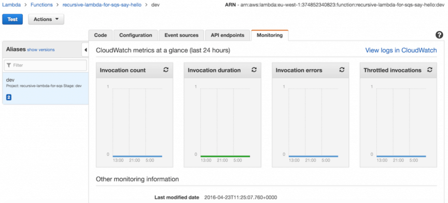 AWS Lambda - use recursive function to process SQS messages
