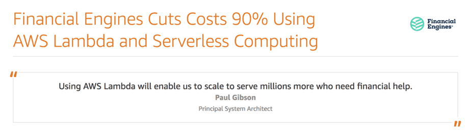 You are thinking about serverless costs all wrong